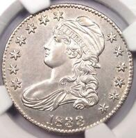 1833 CAPPED BUST HALF DOLLAR 50C   NGC UNCIRCULATED BU MS UNC   NICE LUSTER