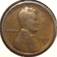 1913-S LINCOLN CENT,  GOOD, BETTER DATE, DISCOUNTED  1024-10