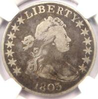 1803 DRAPED BUST HALF DOLLAR 50C - NGC VG DETAILS -  CERTIFIED COIN