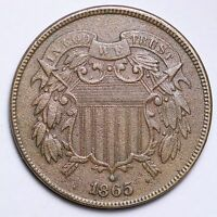 1865 TWO CENT PIECE CHOICE AU  E174 NT