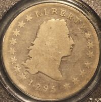 1795 FLOWING HAIR DOLLAR 2 LEAVES VARIETY PCGS G4 W/ CAC STICKER 3 DAY RETURN