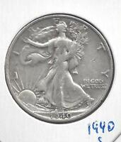 1940 S WALKING LIBERTY HALF DOLLAR.   90 SILVER US COIN