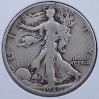 1940 S WALKING LIBERTY HALF DOLLAR CHOICE  GOOD  AND NATURAL