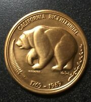 BRONZE CALIFORNIA BICENTENNIAL COIN 1769  1969