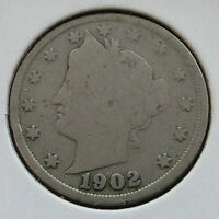 USA - FIVE CENTS NICKEL LIBERTY HEAD 1902 -- US54