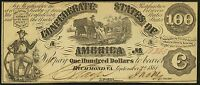 T13 1862 $100 CONFEDERATE NOTE UNC