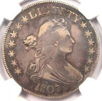 1807 DRAPED BUST HALF DOLLAR 50C - CERTIFIED NGC VF30 -  - $1,300 VALUE