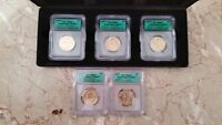 2007 ICG WASHINGTON DOLLAR - 5 COIN SET