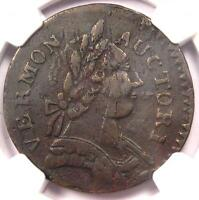1787 VERMONT COPPER BRITTANIA COPPER COIN   NGC XF40 EF40   $1,100 VALUE