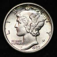 1927 MERCURY DIME CHOICE BU FSB  E295 MT