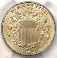 1883 SHIELD NICKEL 5C COIN   CERTIFIED PCGS UNCIRCULATED DETAILS MS BU UNC