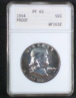 1954 PF65 OLD ANACS HOLDER PROOF FRANKLIN MAKE AN OFFER