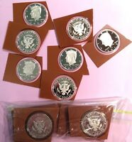 ROLL OF 20  2013 S CLAD GEM PROOF KENNEDY HALVES FROSTED CAMEO IN MINT PLASTIC