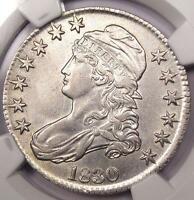 1830 CAPPED BUST HALF DOLLAR 50C   NGC AU DETAILS    CERTIFIED EARLY HALF