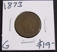 1873 GOOD INDIAN HEAD CENT