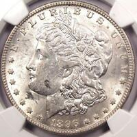 1896 O MORGAN SILVER DOLLAR $1   NGC AU DETAILS    COIN   STRONG LUSTER