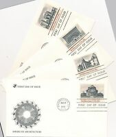 SC 1928-1931 LOT OF 4 FDC CACHETS AMERICAN ARCHITECTURE AUG 28 1981