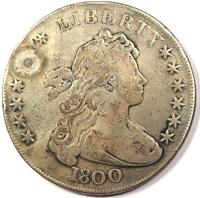 1800 DRAPED BUST SILVER DOLLAR $1   FINE DETAILS    TYPE COIN