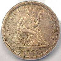 1855 SEATED LIBERTY QUARTER 25C   ANACS AU53    CERTIFIED COIN