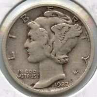 1927 MERCURY DIME   PHILADELPHIA MINT SM247