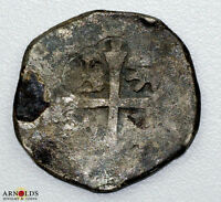 1600'S SPANISH 4 REALES COB COIN PIRATE CURRENCY AUTHENTIC 9.7G