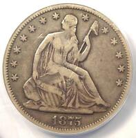 1875 CC SEATED LIBERTY HALF DOLLAR 50C COIN   CERTIFIED ANACS F15 DETAILS