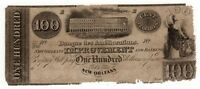 1800'S $100 IMPROVEMENT AND BANKING CO.   NEW ORLEANS LOUISIANA NOTE