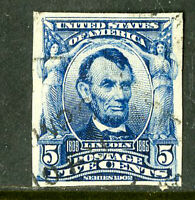 US STAMPS  315 4 MARGINS NEAT CANCEL THIN ON REVERSE SCOTT VALUE $1,250.00