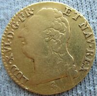 FRANCE 1787 A GOLD  LOUIS D'OR