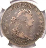 1803 DRAPED BUST HALF DOLLAR 50C O-103 - NGC VF DETAILS -  CERTIFIED COIN