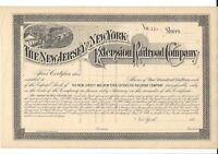 THE NEW JERSEY AND NEW YORK EXTENSION RAILROAD COMPANY1880'S STOCK