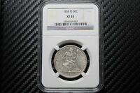 1858 O SEATED LIBERTY HALF DOLLAR NGC XF45 43007