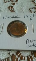 1957 D LINCOLN CENT   WHEAT PENNY UNC