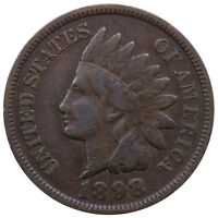 1898 INDIAN HEAD CENT GOOD PENNY VG