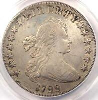 1799 DRAPED BUST SILVER DOLLAR $1   CERTIFIED ANACS XF40 DETAILS EF40