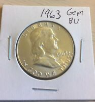 1963 FRANKLIN HALF DOLLAR. BU