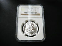 1963 FRANKLIN HALF DOLLAR CHOICE UNC BU COINNGC PF 66