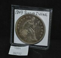 WEST POINT COINS   1849 SEATED LIBERTY DOLLAR AU