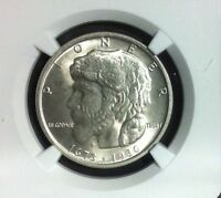1936 ELGIN COMMEMORATIVE SILVER HALF DOLLAR  - NGC MINT STATE 64