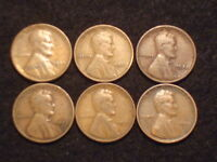 LINCOLN WHEAT CENTS  1930S, 1931, 1932, 1932D, 1933, 1934D  LOT OF 6  SEMI KEY