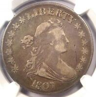 1807 DRAPED BUST HALF DOLLAR 50C O-105 - NGC VF DETAILS -  CERTIFIED COIN