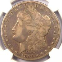 1893-O MORGAN SILVER DOLLAR $1 - NGC F15 -  CERTIFIED KEY DATE COIN
