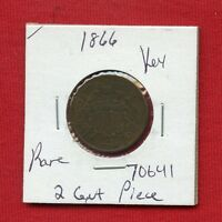 1866 TWO CENT PIECE 70641  COIN US MINT  KEY DATE ESTATE