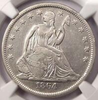 1864 S SEATED LIBERTY HALF DOLLAR 50C   NGC XF40 EF40    CIVIL WAR COIN