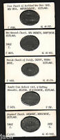 SCOTLAND. GROUP OF 5 DIFFERENT COMMUNION TOKENS. 1815   1843 IN LEAD