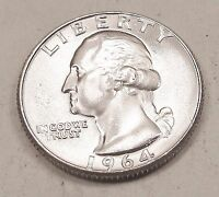 1964  D  QUARTER   UNCIRCULATED   LUSTROUS