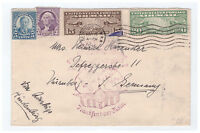 US 1936 ZEPPELIN COVERS FLOWN FIRST FLIGHT US TO GERMANY WITH  C8, C9