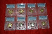 8   GRADED QUARTER COIN LOT   PCGS PR69 DCAM YEAR RANGE: 1973 1981 H086 701