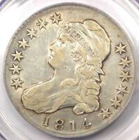 1814 CAPPED BUST HALF DOLLAR 50C O 109   PCGS GENUINE   XF DETAILS    COIN