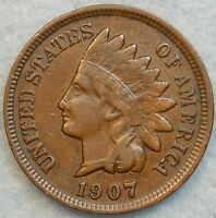 1907 INDIAN HEAD CENT PENNY NICE OLD COIN LIBERTY FAST S&H 53759